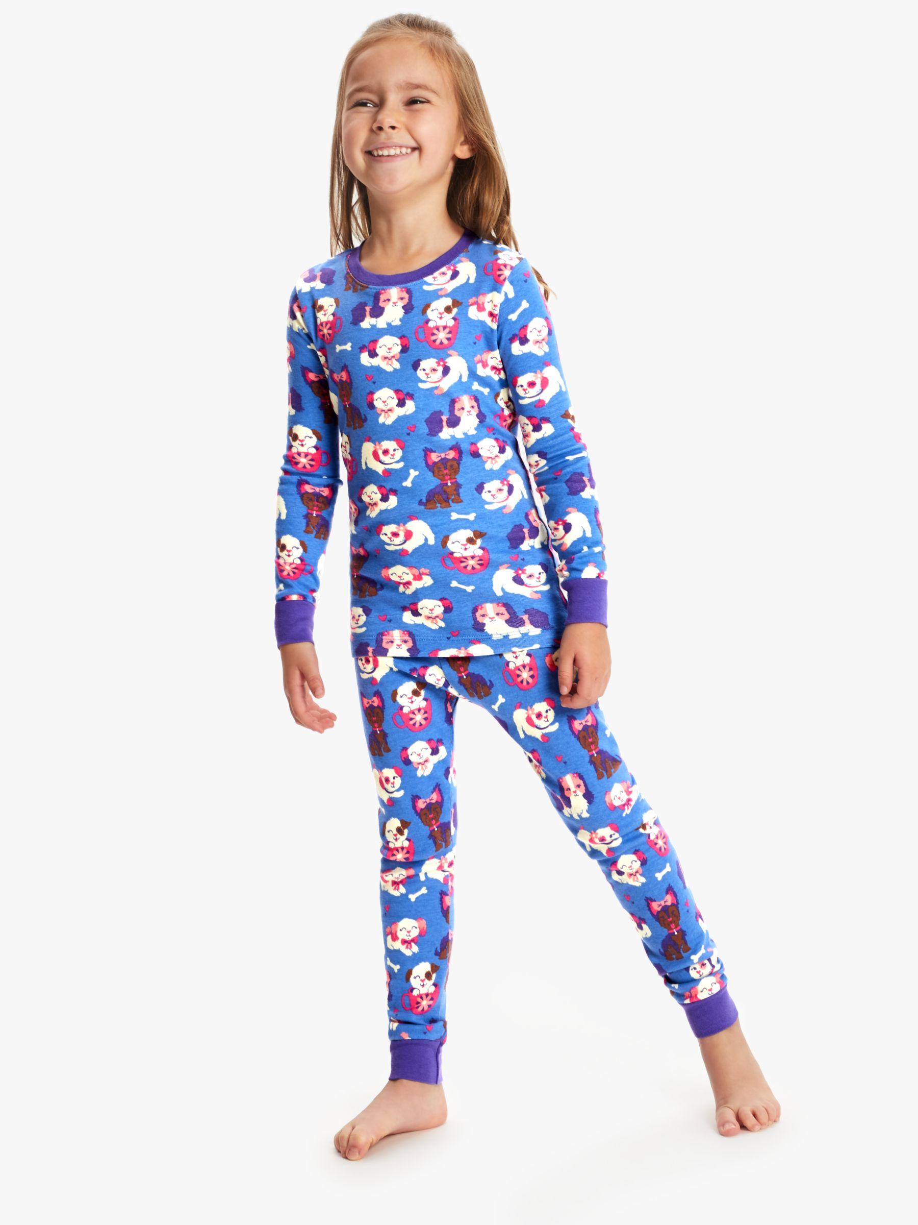 Hatley Hatley Girls' Puppy Love Pyjamas, Blue