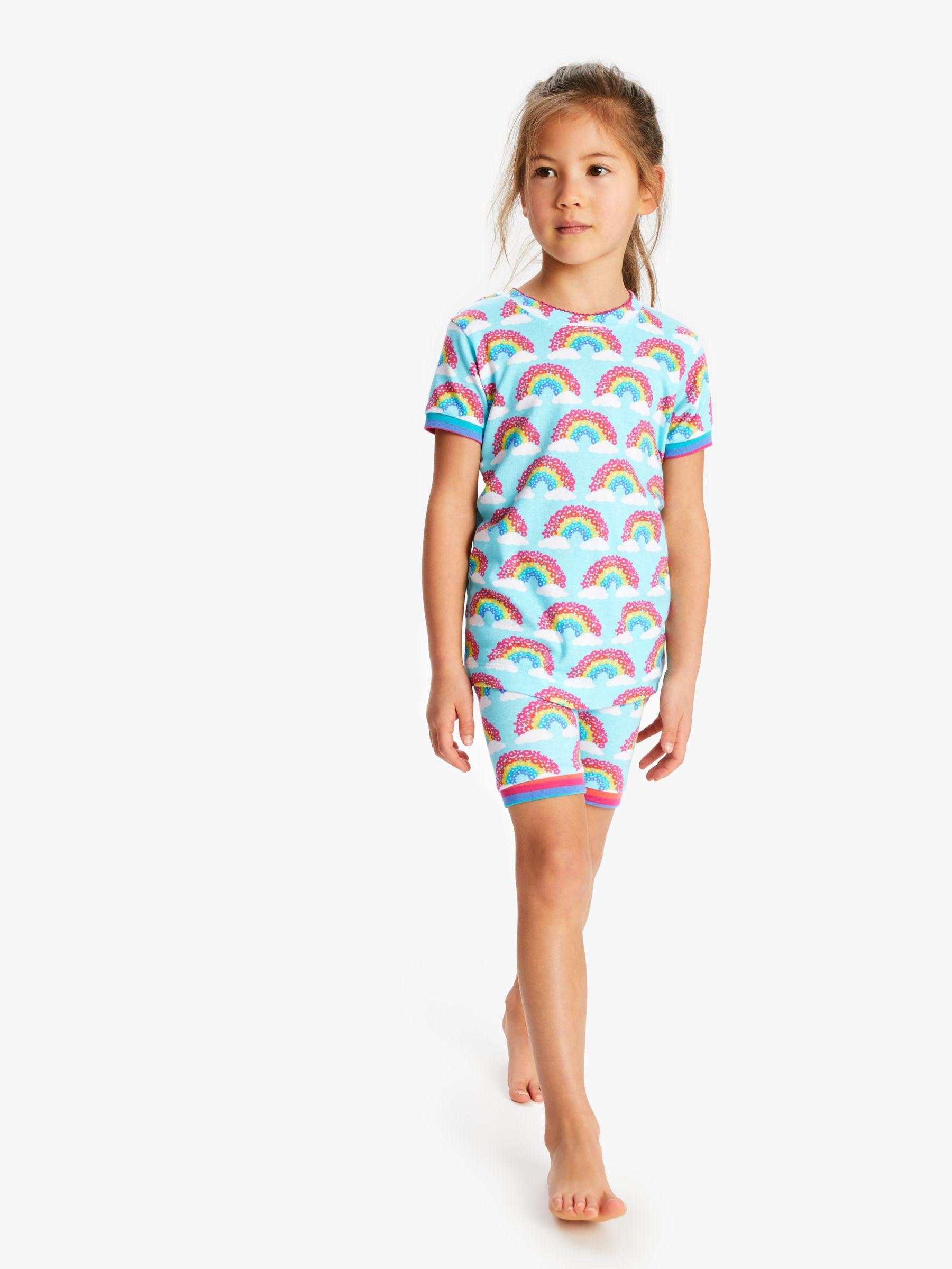 Hatley Hatley Girls' Rainbow Print Short Pyjamas, Blue