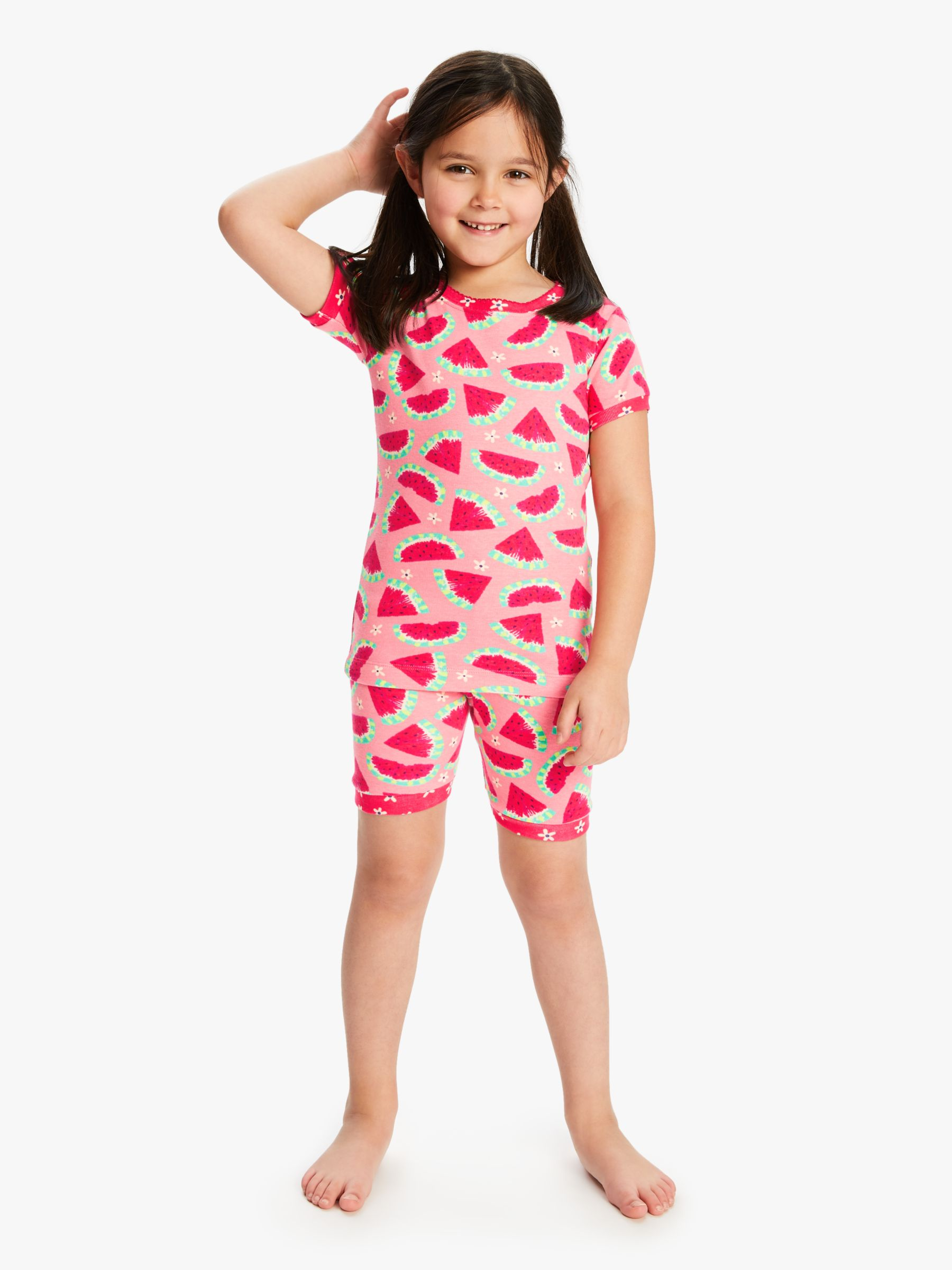 Hatley Hatley Girls' Watermelon Print Short Pyjamas, Pink