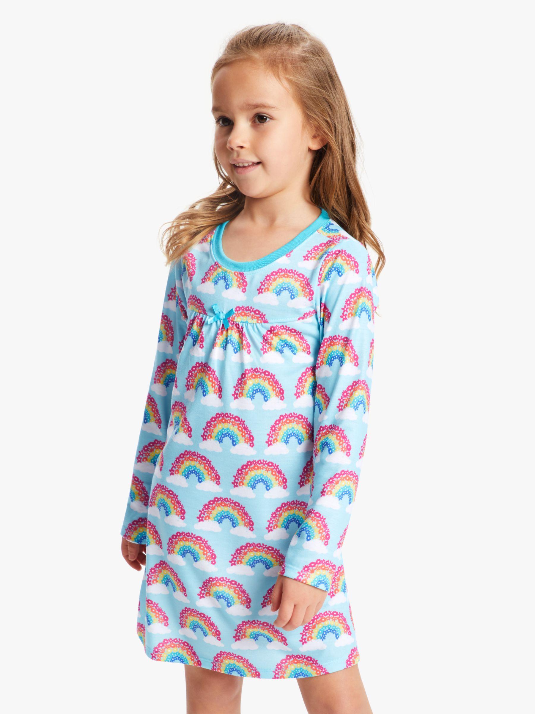 Hatley Hatley Girls' Rainbow Nightdress, Blue