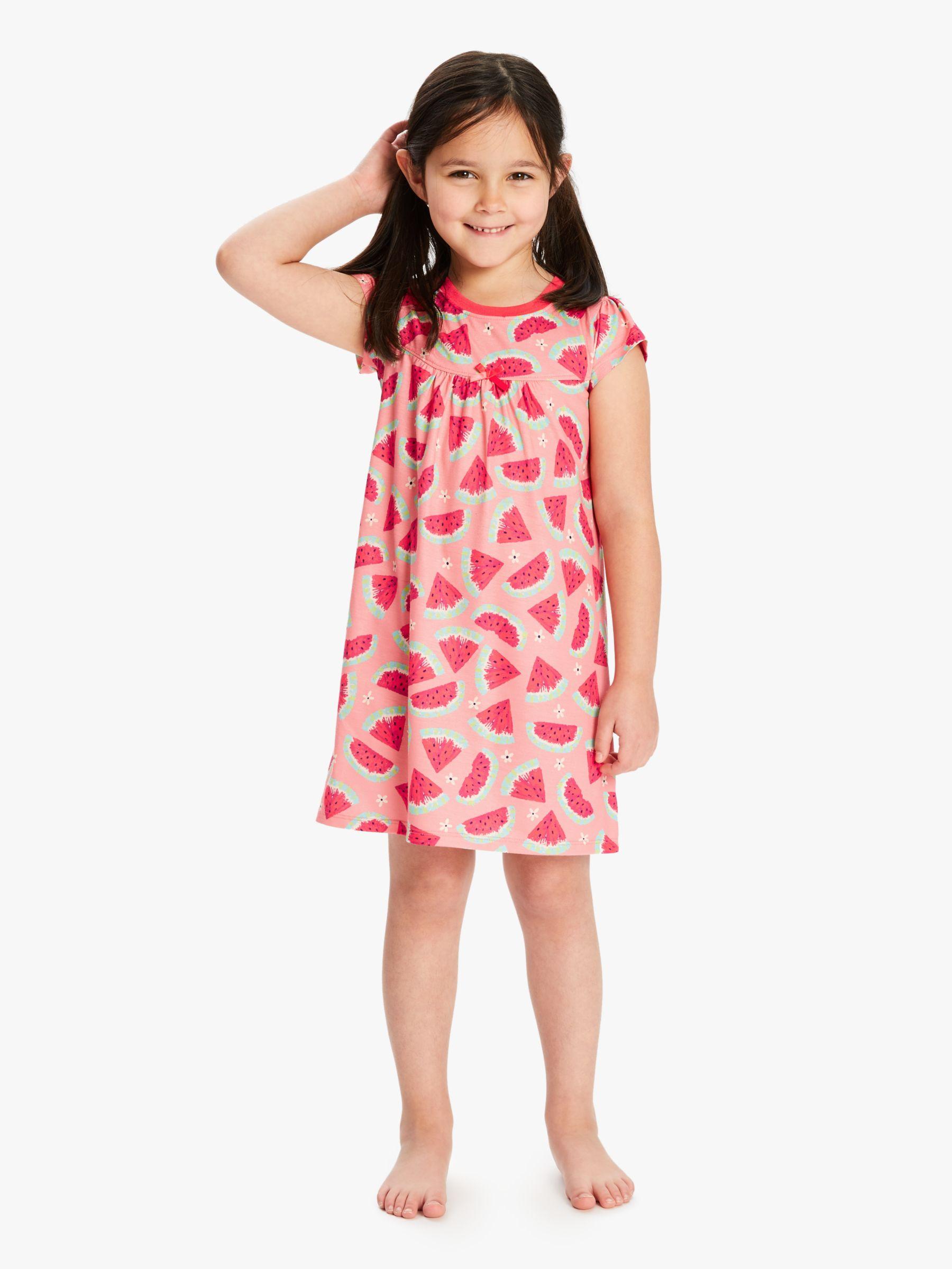 Hatley Hatley Girls' Watermelon Print Night Dress, Pink