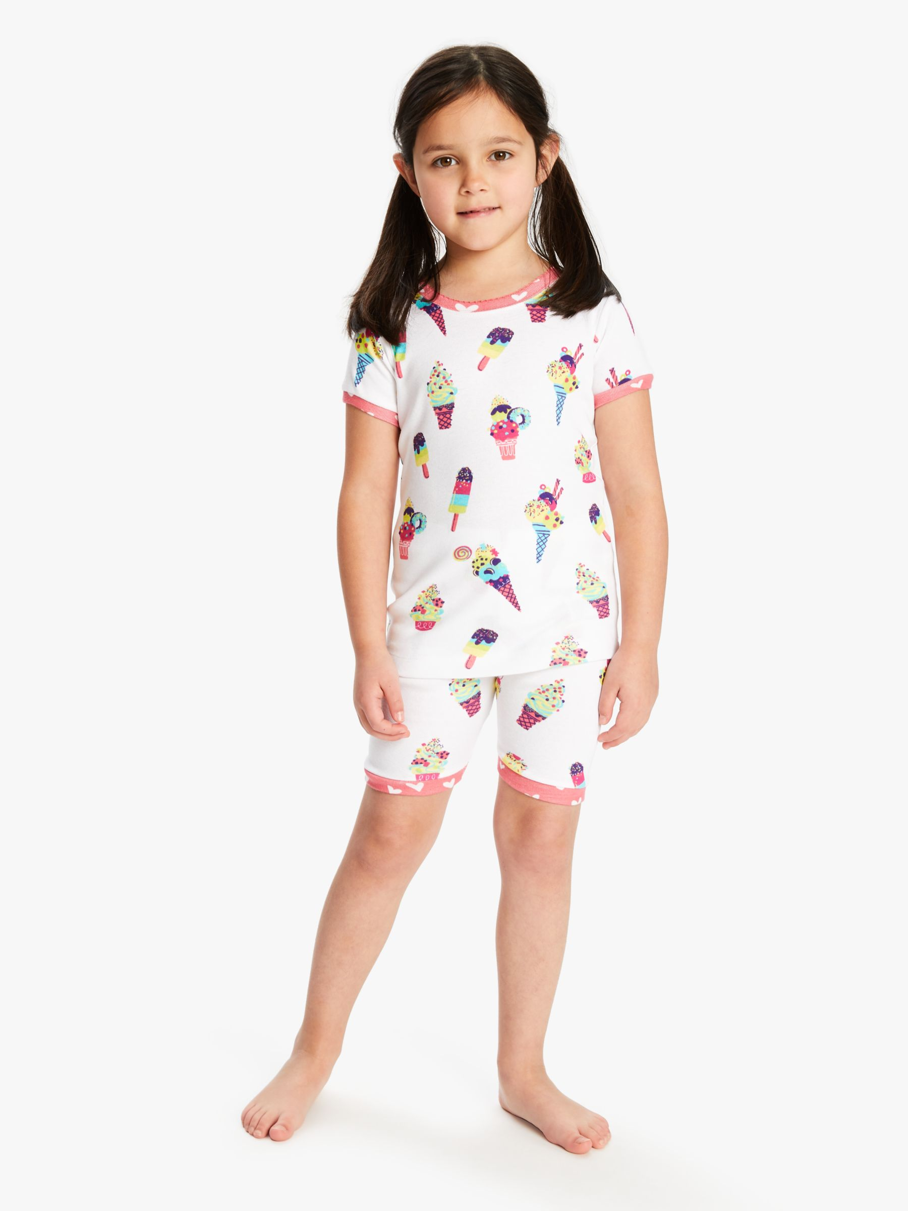 Hatley Hatley Girls' Ice Cream Print Short Pyjamas, White