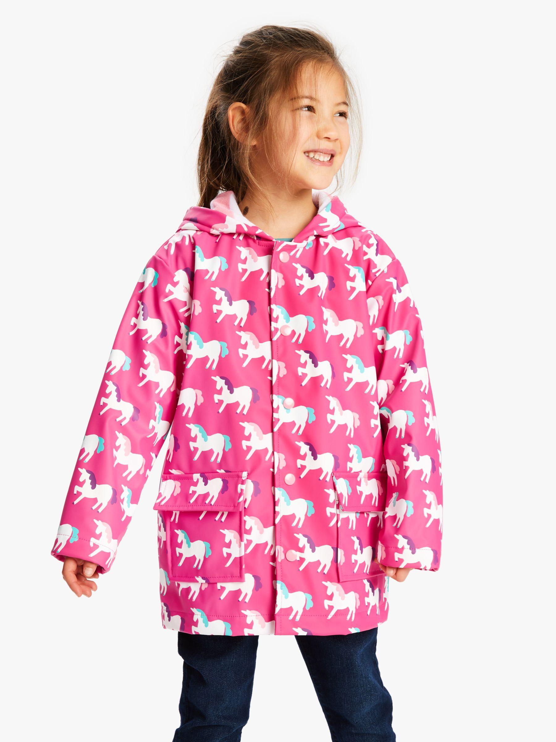 Hatley Hatley Girls' Mystical Unicorns Raincoat, Pink