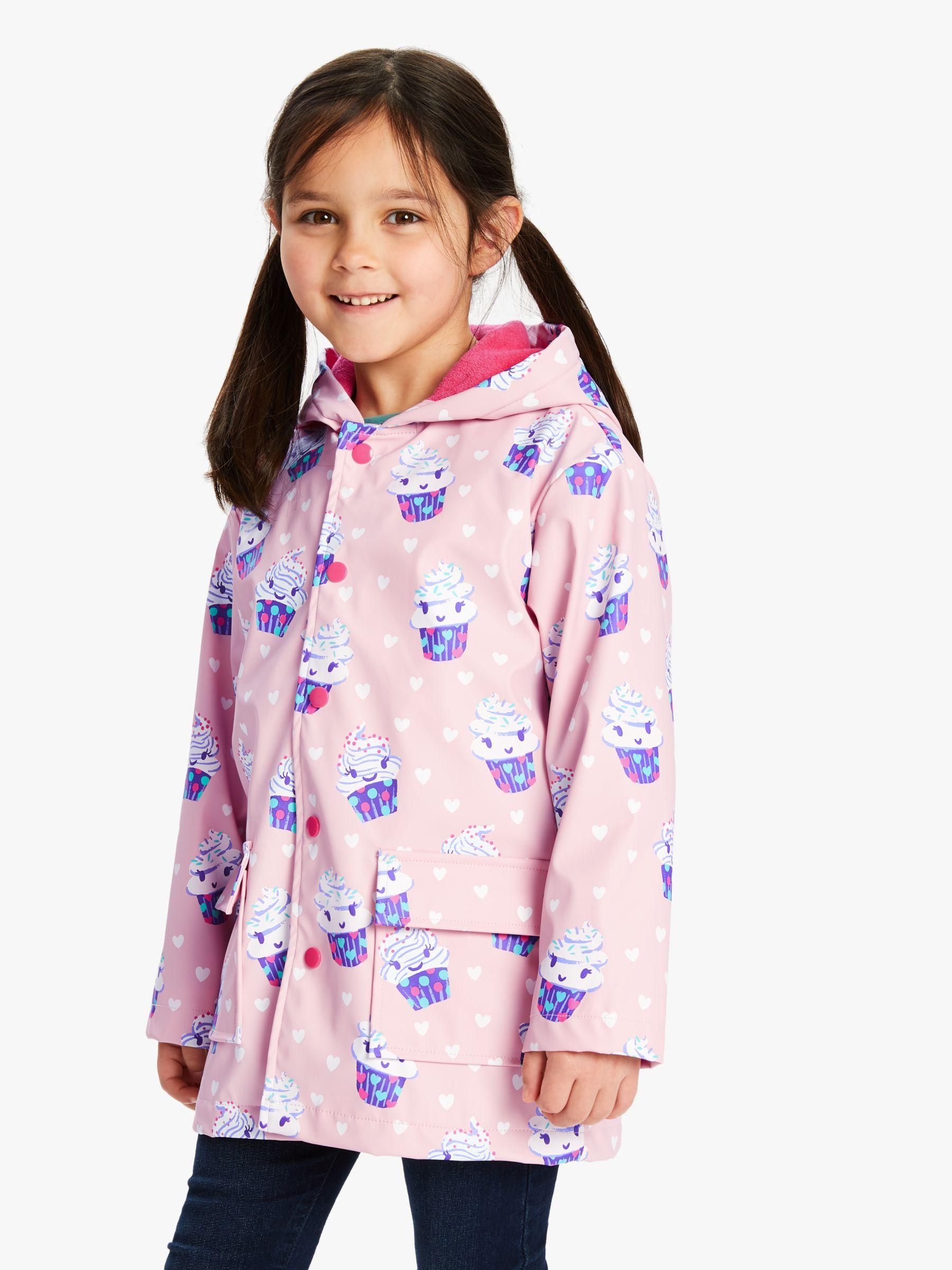 Hatley Hatley Girls' Dancing Cupcakes Raincoat, Pink