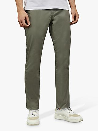 Ted Baker Clenchi Slim Fit Chinos, Mid Green