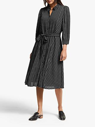 Gestuz Denice Oversized Check Dress, Black/White