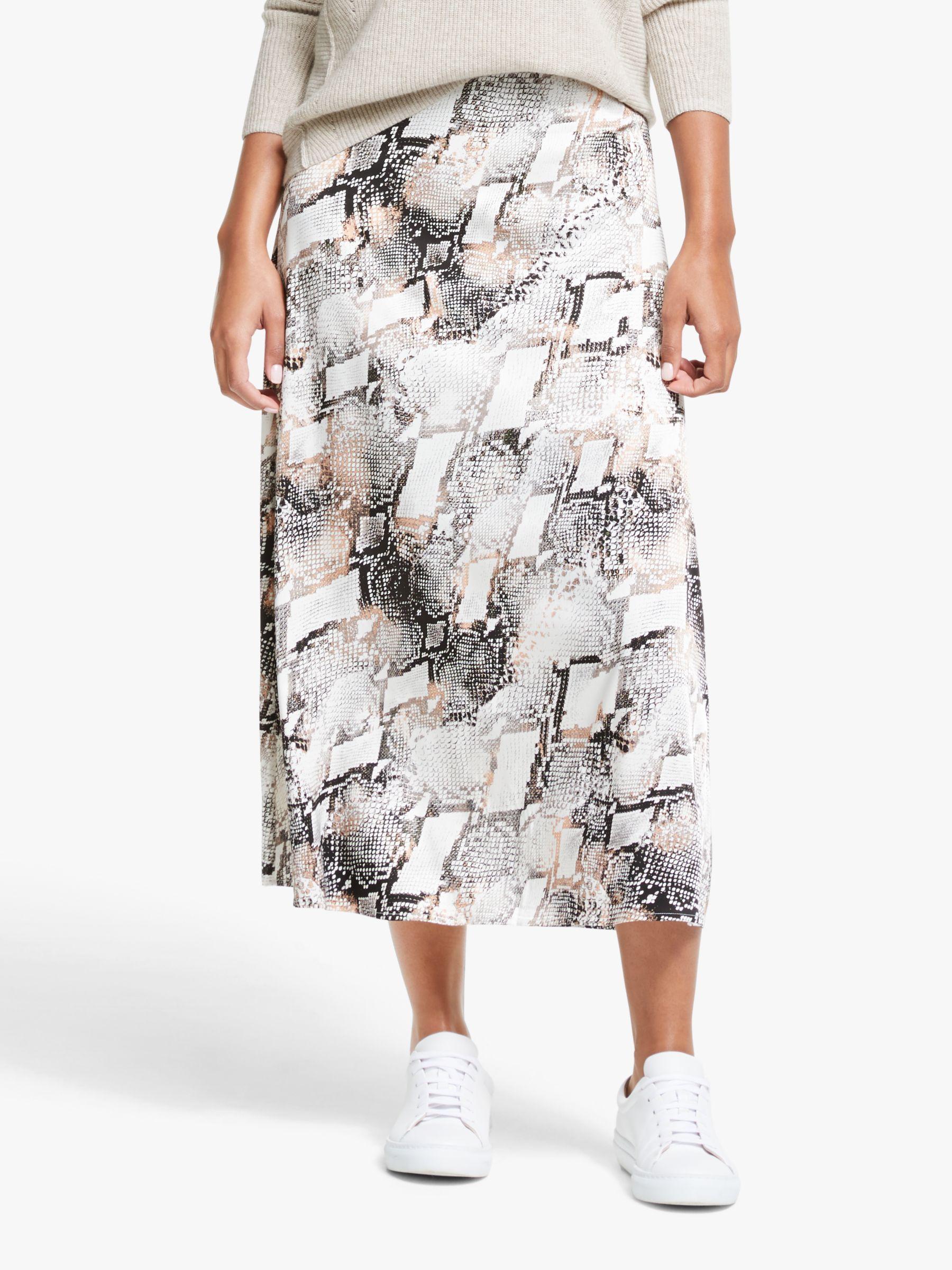 Gestuz Gestuz Baran Print Skirt, Powder Snake