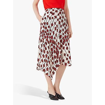 Finery Casey Daisy Chain Print Skirt, White/Multi