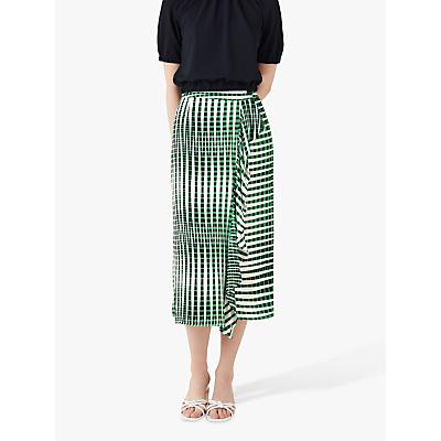 Finery Lisson Linear Print Wrap Skirt, Green/Multi