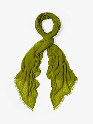 White Stuff Dreaming Away Scarf, Grassy Green