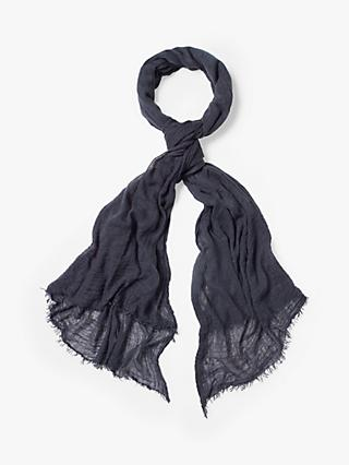 White Stuff Dreaming Away Scarf, Dark Navy