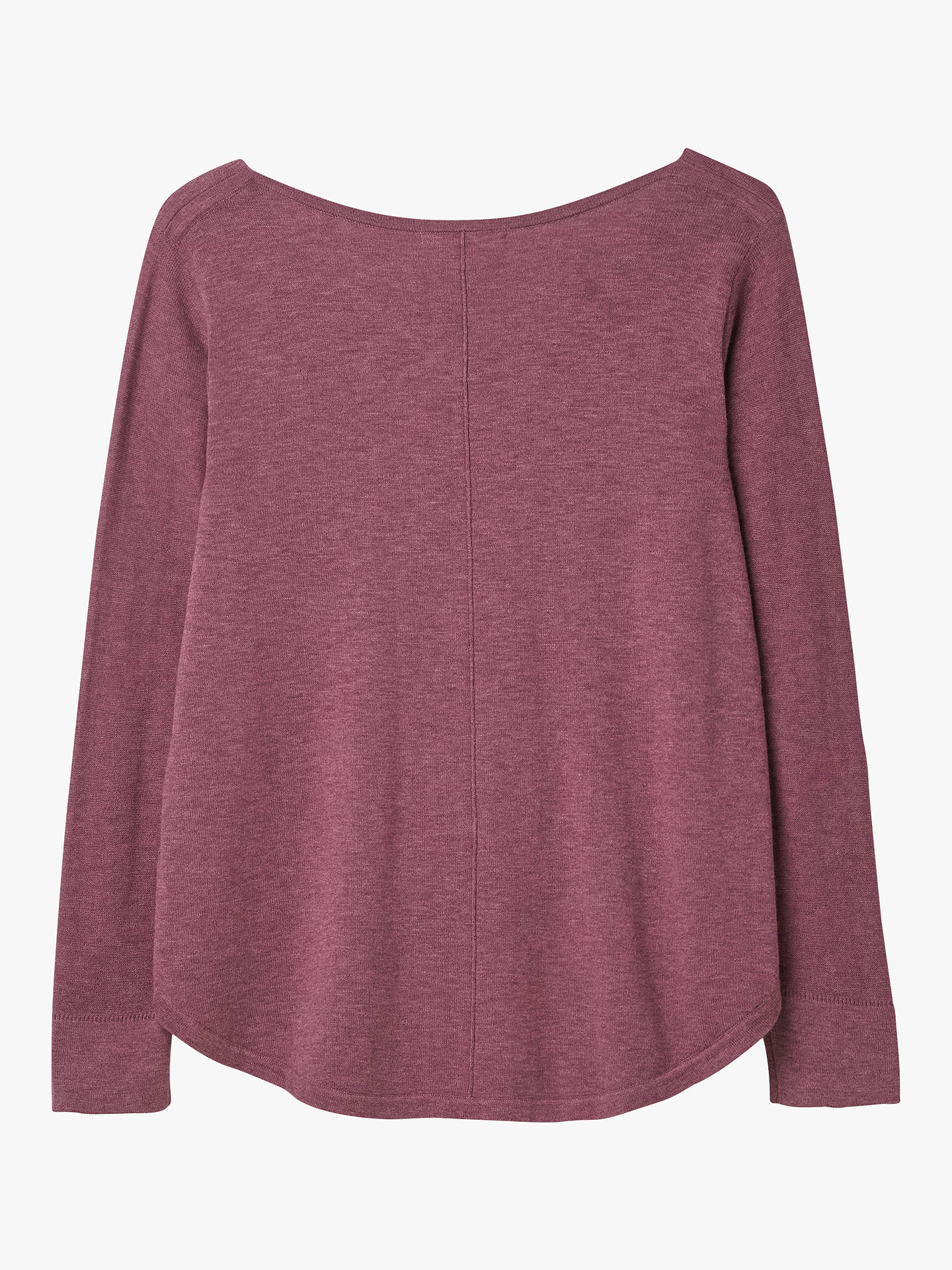 Buy White Stuff Florence V-Neck Jumper, Berry Purple Plain, 12 Online at johnlewis.com