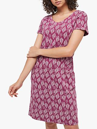 White Stuff Selina Fairtrade Cotton Dress, Berry Purple Print