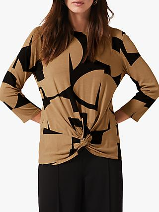 Phase Eight Gretchen Top, Camel/Black