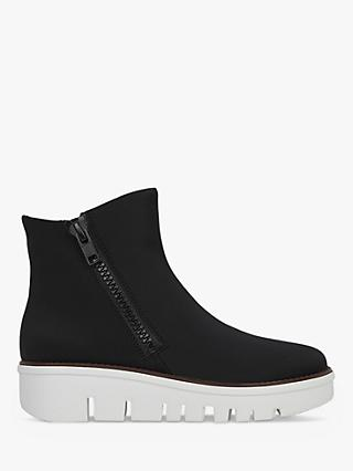 FitFlop Chunky Zip Detail Boots, Black