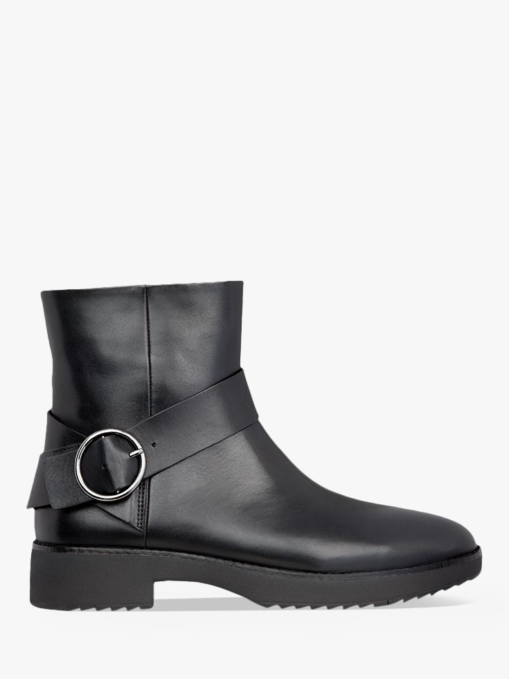 Fitflop FitFlop Saska Leather Buckle Detail Ankle Boots