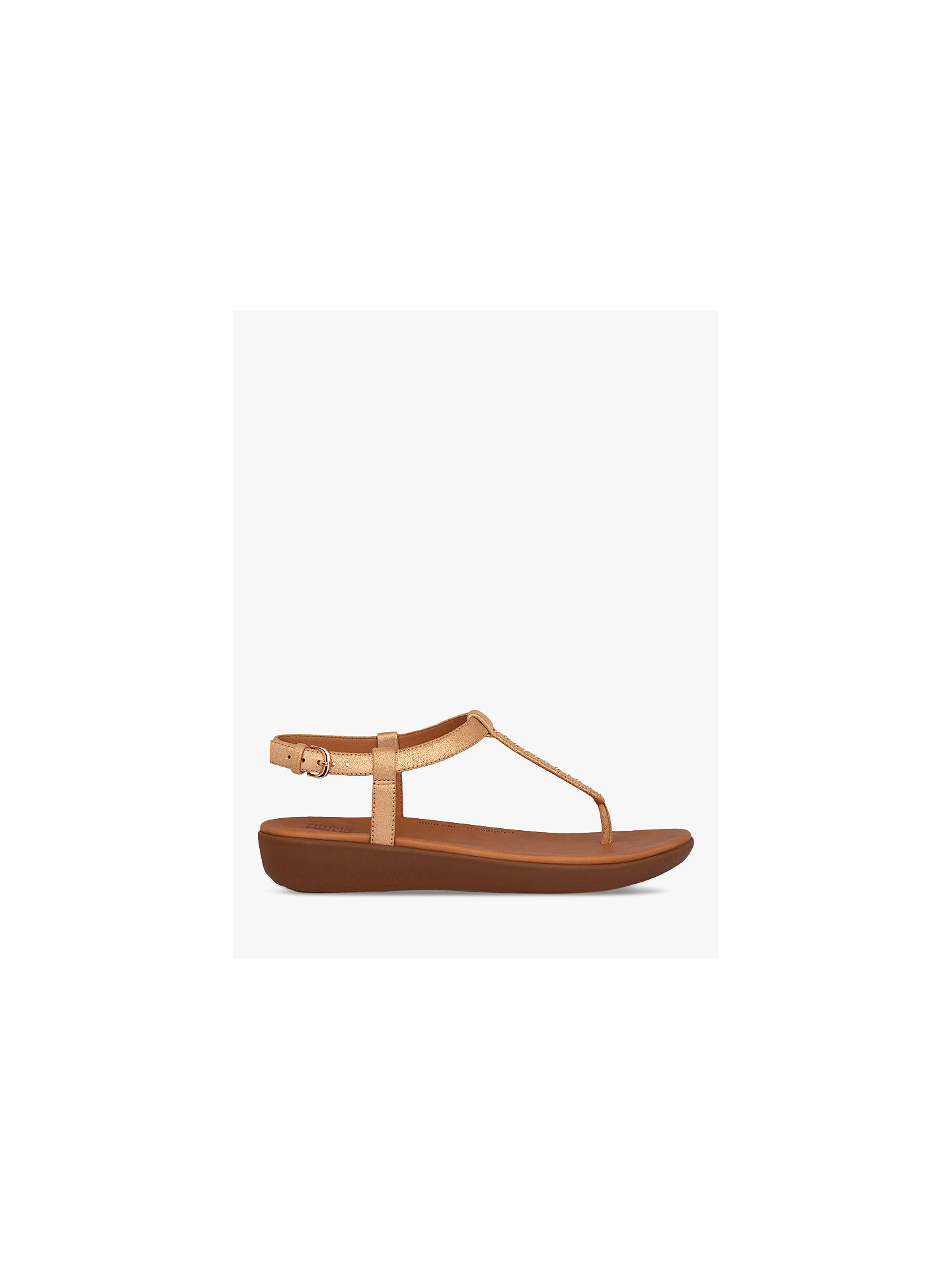 Buy FitFlop Tia Toe Post Sandals, Rose Gold, 4 Online at johnlewis.com