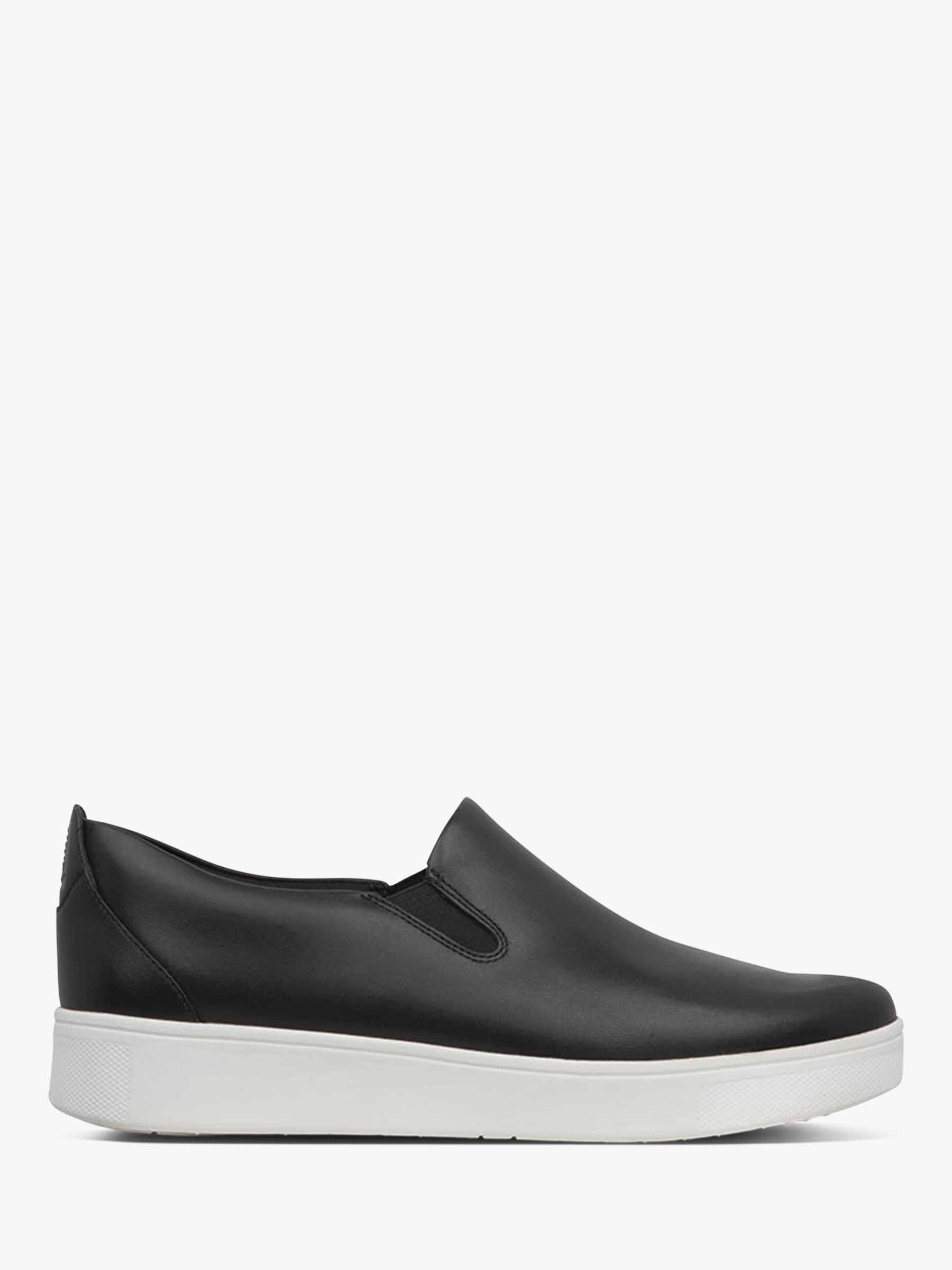 Fitflop FitFlop Sania Skate Leather Slip-On Trainers, Black