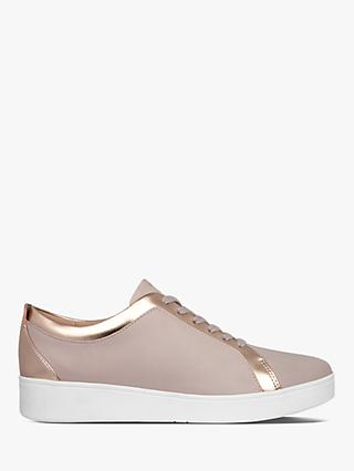 FitFlop Rally Lace Up Trainers, Mink Rose