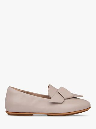 FitFlop Lena Folded Bow Leather Loafers, Mink