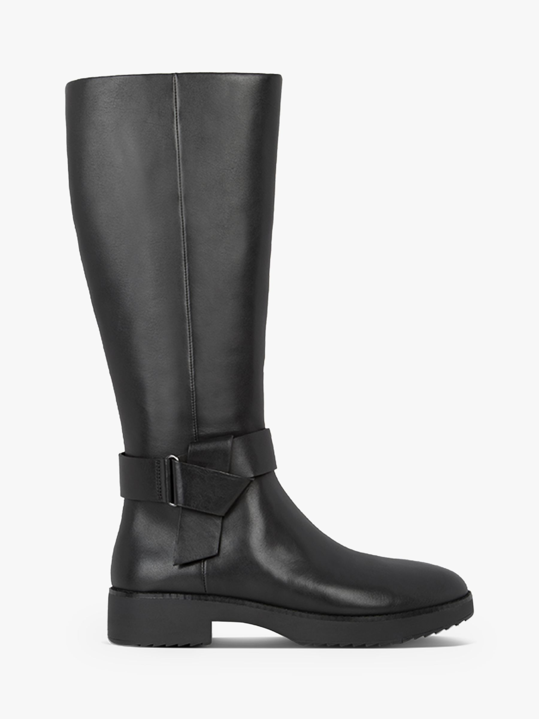 Fitflop FitFlop Knot Leather Calf Boots, Black
