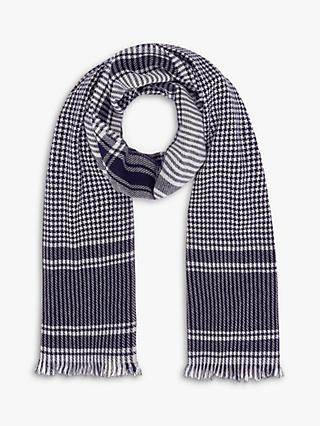 Brora Cashmere Houndstooth Check Stole Scarf