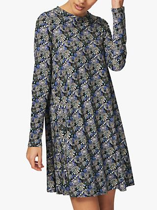 Brora Liberty Tunic Dress, Blue/Multi
