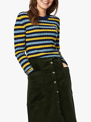 Brora Striped Cashmere Jumper