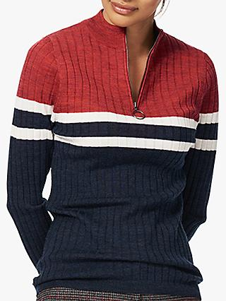 Brora Merino Wool Zip Jumper
