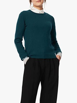 Brora Cashmere Elbow Patch Jumper