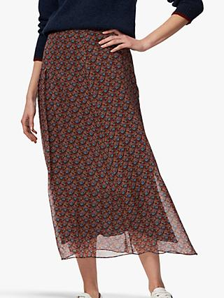6fa2e2465 Brora Liberty Print Silk Chiffon Maxi Skirt, Mist Poppy
