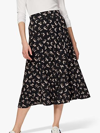 Brora Liberty Jersey Skirt, Navy/Multi