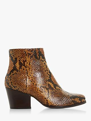 Bertie Poket Leather Block Heel Ankle Boots