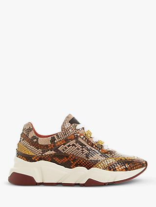 Bertie Elista Leather Lace-Up Trainers