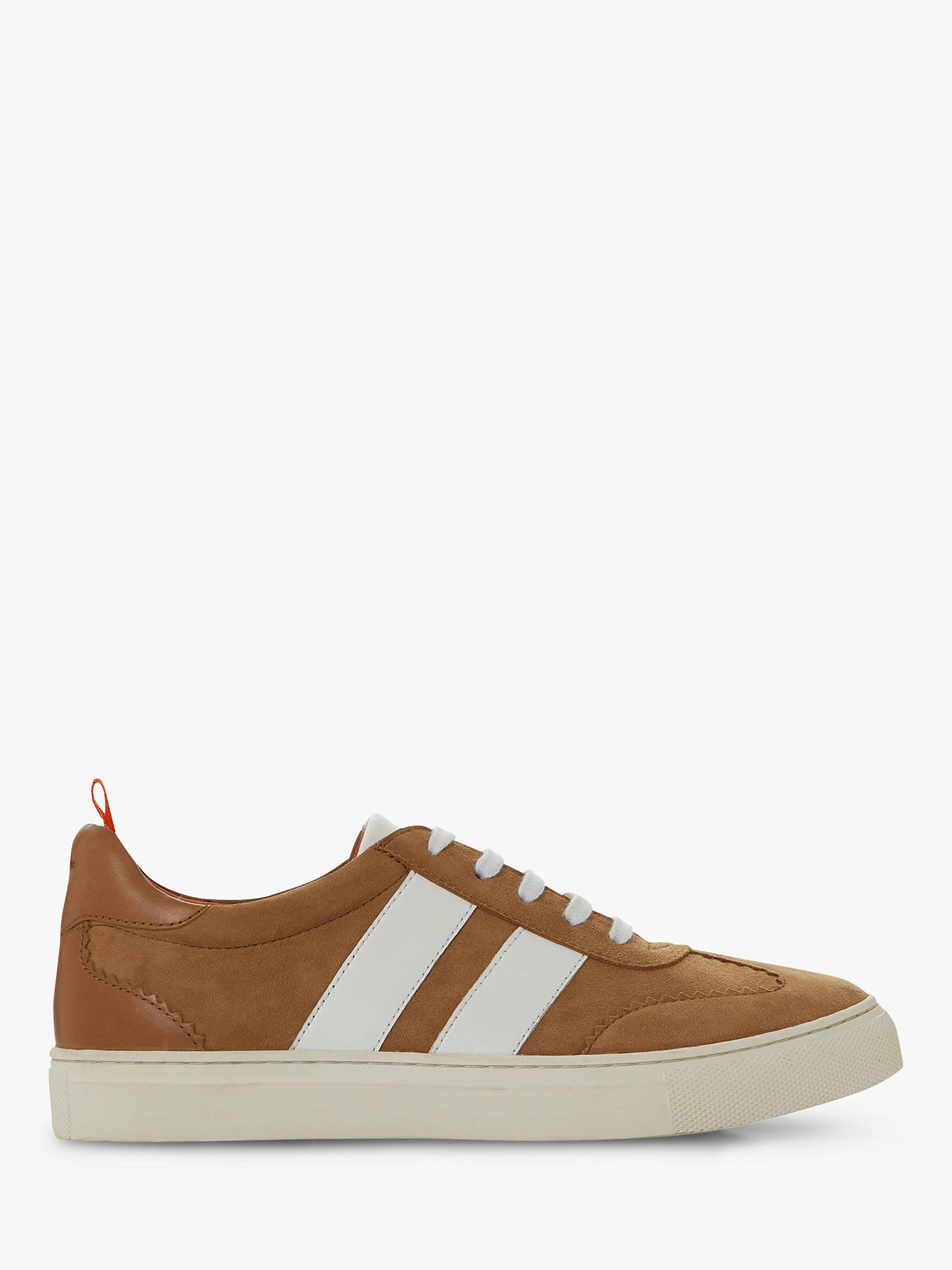 Bertie Striped Leather Detail Trainers, Camel by Bertie