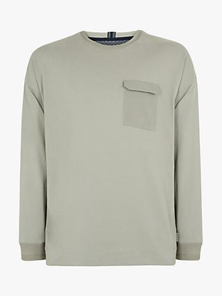 Ted Baker Wittan Long Sleeve T-Shirt, Light Grey