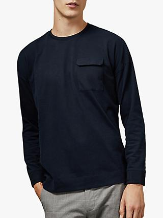 Ted Baker Wittan Patch Pocket Top, Navy Blue