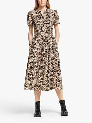 Somerset by Alice Temperley Animal Print Shirt Dress, Neutral