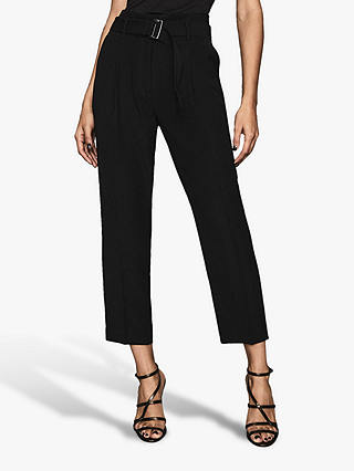 Buy Reiss Cacey Slim Fit Tailored Trousers, Black, 6 Online at johnlewis.com