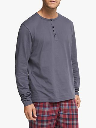 John Lewis & Partners Henley Organic Cotton Lounge T-Shirt