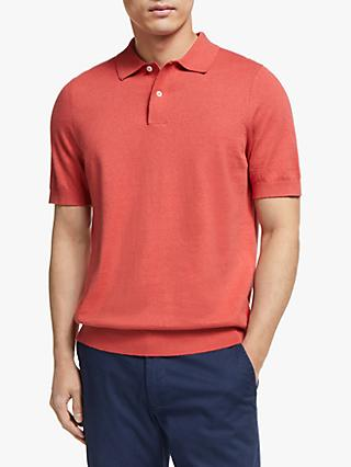 John Lewis & Partners Linen Cotton Knitted Polo Shirt