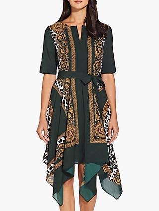 Adrianna Papell Medallion Scarf Dress, Green
