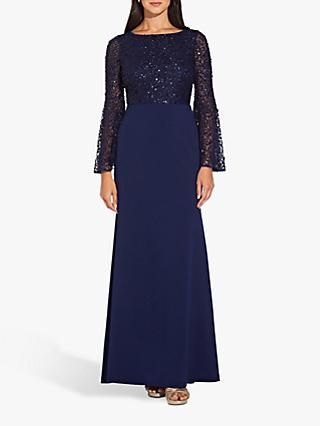 Adrianna Papell Beaded Gown, Navy