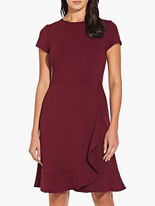 Adrianna Papell Knitted Wrap Dress, Garnet