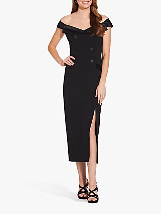 Adrianna Papell Crepe Tuxedo Dress, Black