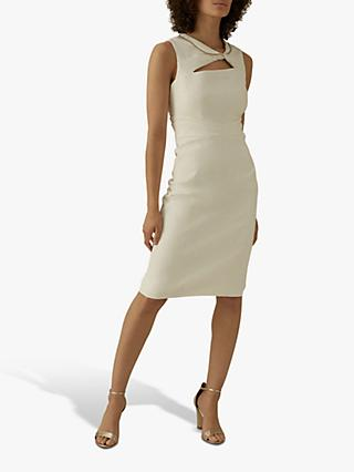 Karen Millen Knit Chain Neck Dress, Ivory