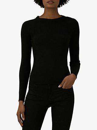 b80e75820 Karen Millen Stretch Knit Jumper, Black