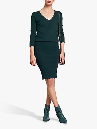 hush Tina V-Neck Dress, Pine