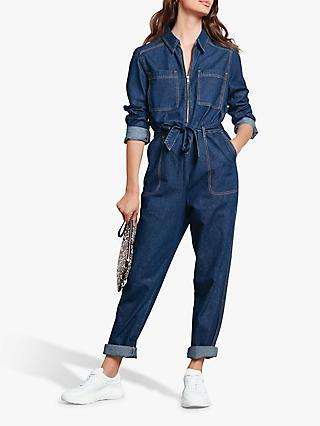 hush Denim Boiler Suit, Denim