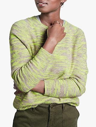 hush Julia Space Dye Jumper, Natural/Neon Yellow